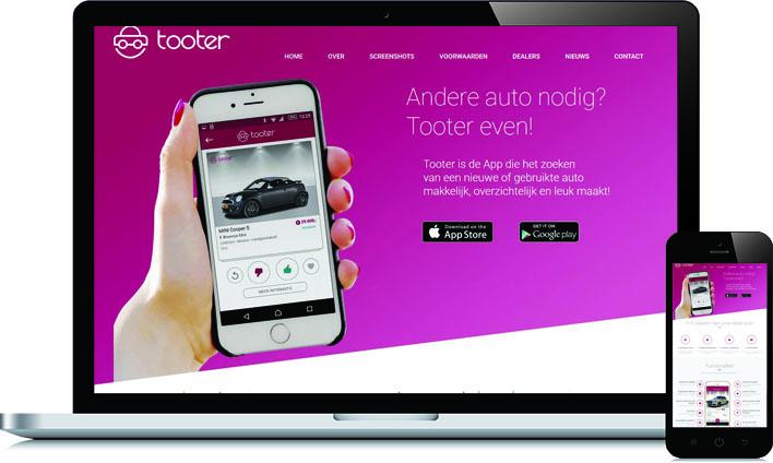 Responsive HTML voor Tooter