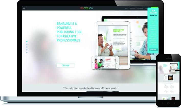 Responsive HTML voor Banaunu
