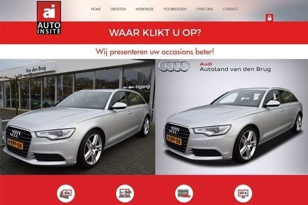 HTML Slicing voor website Auto-Insite