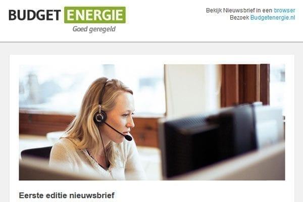 HTML Slicing voor Budget Energie