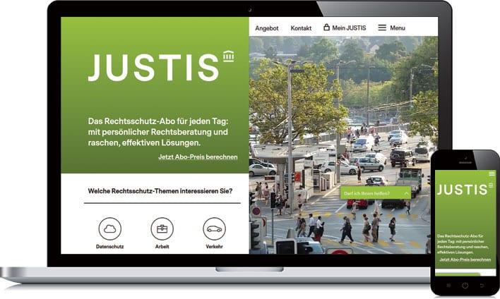 responsive HTML voor JUSTIS